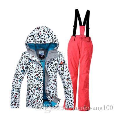 Kids Ski Suit Girls Ski Jacket Ski Pants Children Ski Wear Gsou Snow Parent Child Suit Leopard Print From Jacobwang100, $86.71 | Dhgate.Com