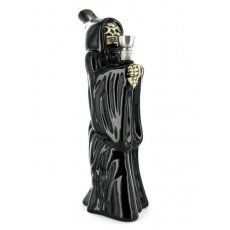 New in store this bong has been hand-crafted in the form of the dreaded Grim Reaper. No need to fear this Reaper though, as his scythe has been mischievously exchanged for a bowl and downtube! He is now called the grin reaper... £9.99  Also available on our website  http://www.willybanjo.com/shop/smoking_supplies/bongs/ceramic_bongs/novelty_bongs/standing_grim_reaper_bong.asp  #new #bongs #grim #reaper #ceramic #willybanjos #preston