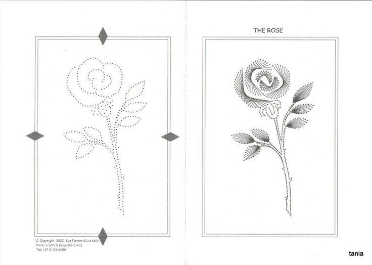 Rose Stitching Card pattern