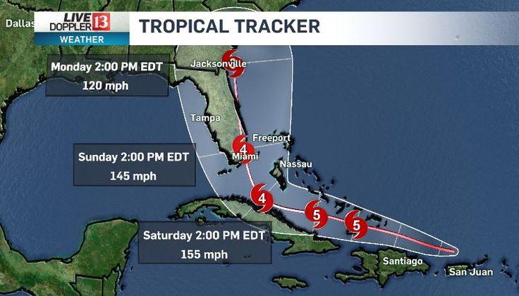 Hurricane Irma was still a category 5 hurricane Wednesday evening.