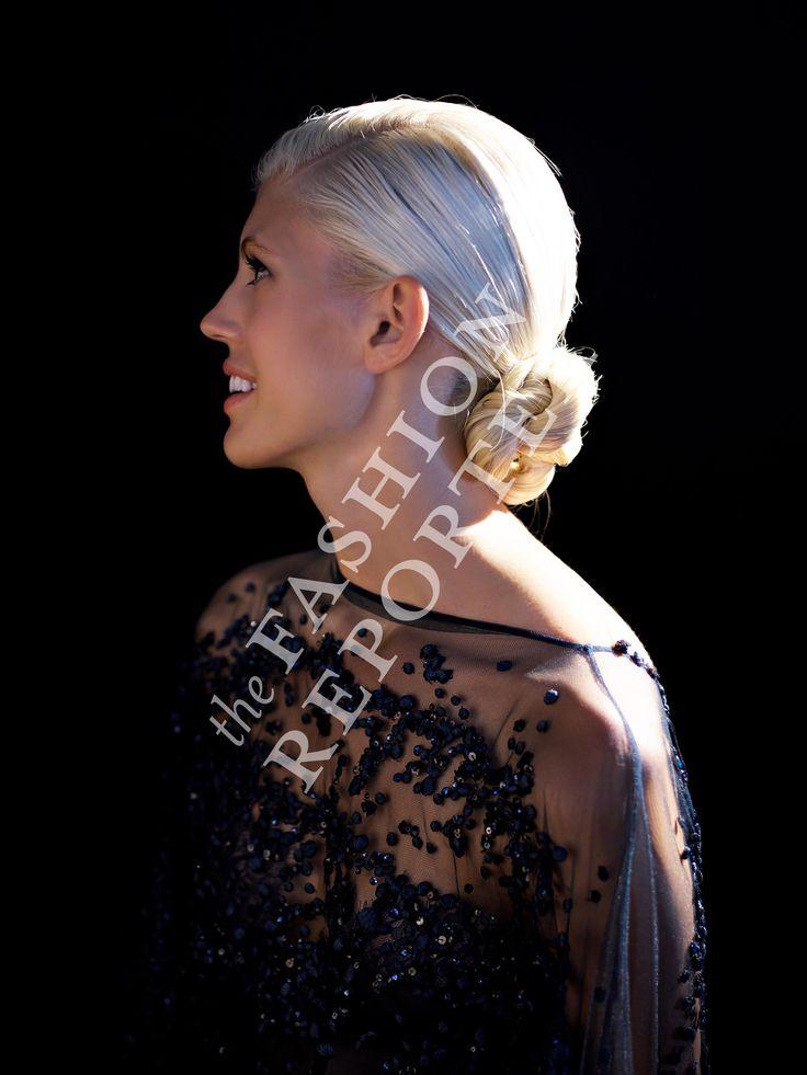 Devon Windsor at Elie Saab Backstage | Haute Couture FW14-15 | Ph. Antonello Trio