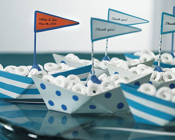 """""""Set Sail With Me"""" Metal Boat Personalized Favor"""