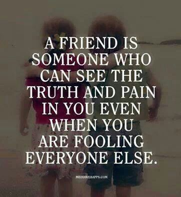 My closest friends can't see my pain, nor can my family, maybe I somehow am too good with fooling..?