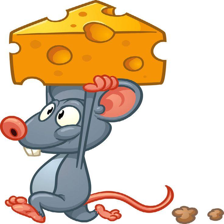 картинка мультяшной мышки с сыром
