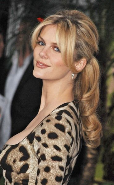 A nod to Brigitte Bardot's vampy style by blonde bombshell, Brooklyn Decker