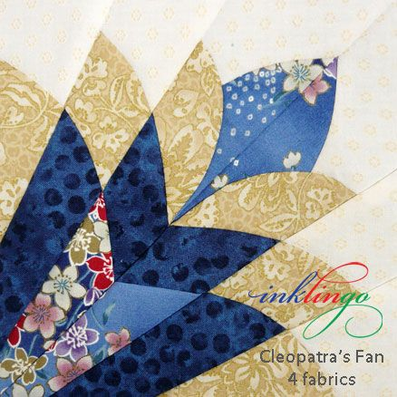 Cleopatra's Fan Quilt - Design Book (138 pages, PDF) FREE for a limited time.