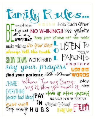 FREE Family Rule Printable