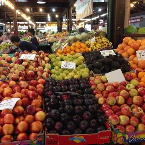 Fremantle Markets - fruit and veg stalls
