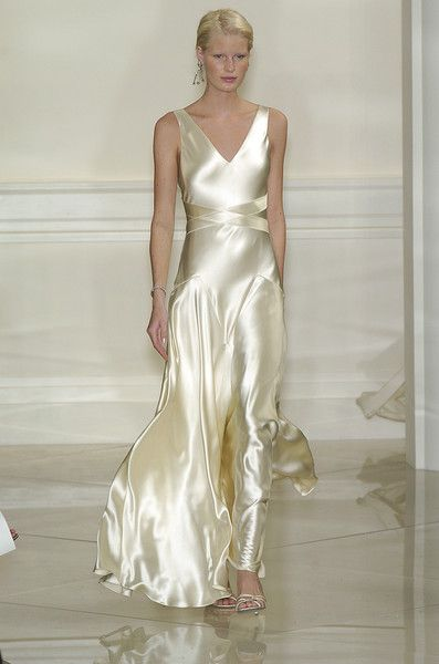 "Ralph Lauren at New York Spring 2005 | Cate Blanchett wore this on the cover of Vogue in Dec 2004. She went on that following February to win the Oscar for Best Supporting Actress for her portrayal of Katherine Hepburn in Martin Scorsese's ""The Aviator."""