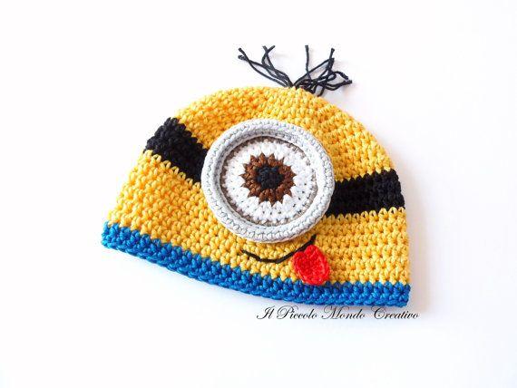 Cappellino Minion Cattivissimo Me di PiccoloMondoCreativo su Etsy