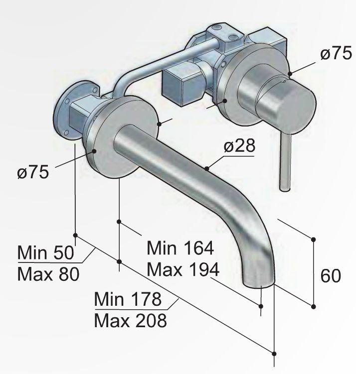 Hotbath Buddy 005J inbouw wastafelkraan gebogen uitloop | BadkamerXXL