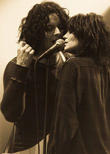 Alison Mosshart and Jack white aka The dead weather