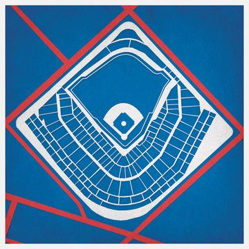 Wrigley Field, Chicago, IL  @Ashley Snyder, they have different prints of different fields. I thought you may like this.