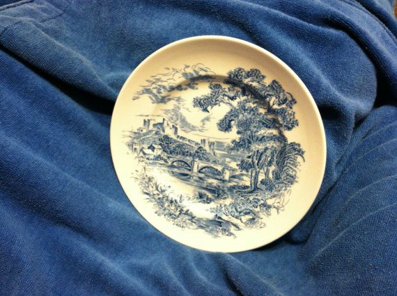 Vintage Set of 8 Blue Enoch Wedgwood Countryside Transferware Dinner Plates Made in England Old Collectible Dinnerware Discontinued Pattern & 16 best Duz Detergent Dishes images on Pinterest | Homer laughlin ...