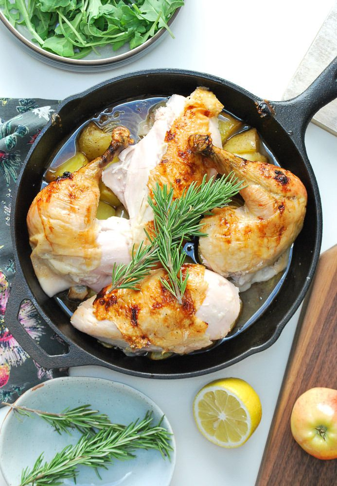 Honey Glazed Apple Roast Chicken by lifeisbutadish #Chicken #Honey #Apple