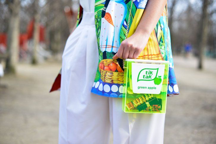 Pin for Later: The Best Street Style Accessories We Saw at Paris Fashion Week PFW Day Five Urania Gazelli bag
