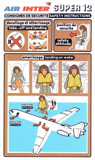 Air Inter Caravelle Super 12 Safety card