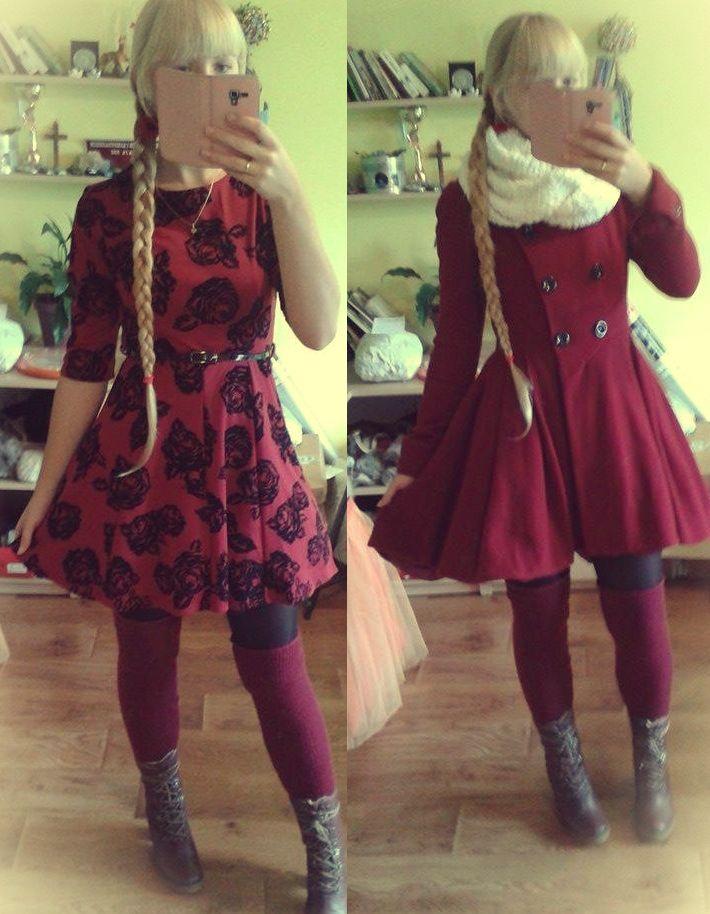 #kawaii #girl #girly #korean #japanstyle #sweet #lovely #cute #outfit #ulzzang #inspiration #asian #kpop #fashion #dress #coat #dresscoat #dress