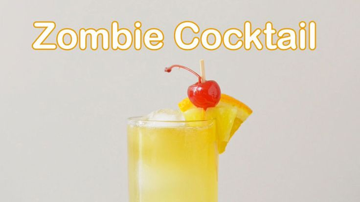 It's called zombie because it's full of booze, not because it's for Halloween. But it's great for Halloween, too!