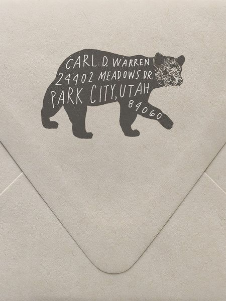 Custom Bear Return Address Custom Stamp