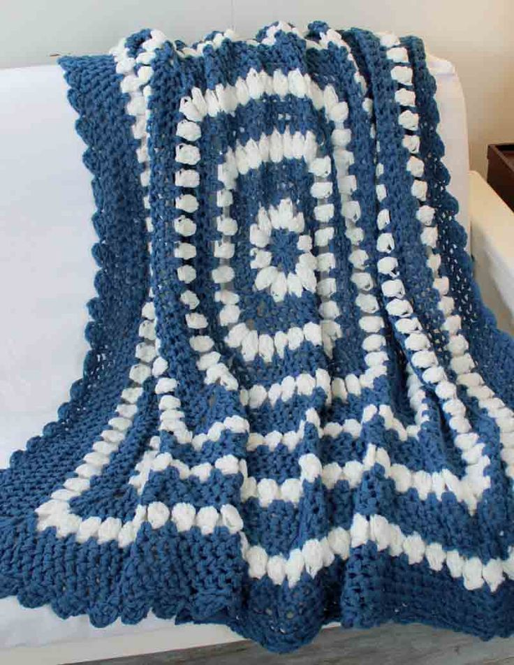Country Clusters Afghan Crochet Pattern