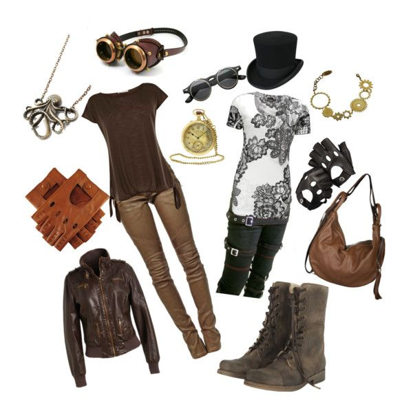 """""""Easy Steampunk"""" by sarah-du-plessis on Polyvore"""