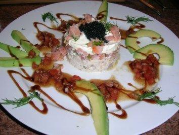 Rezept: Tatar von Räucherforelle und Lachs mit Avocado (eine leckere Vorspeise auch für Gäste) gabs am v. Wochenende