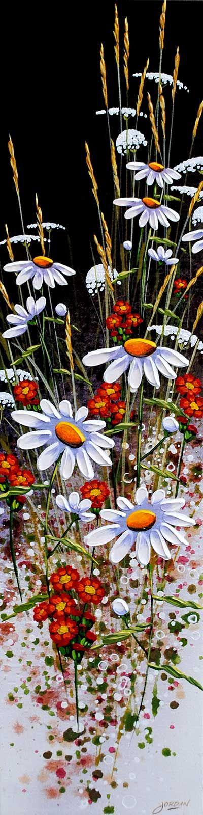 "Artist: Jordan Hicks Slender Spectacle Xxv - Ds acrylic on canvas, 24""h x 6""w  ♥•♥•♥"