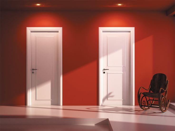 FBP porte | Collezione ASIA - Asia 1 e Asia 2 - Colore: laccata bianca #fbp #porte #legno #pantografata #door #wood #white #varnished