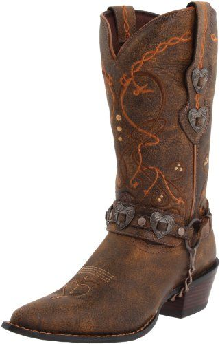 Buy Durango Women's Crush Cowgirl Boot The chic and sexy styles include bohemian slouch boots, refined Natice-art inspired embroidery, metal embellishments and edgy textures that beckon a cowgirl with just a touch of urban sass.