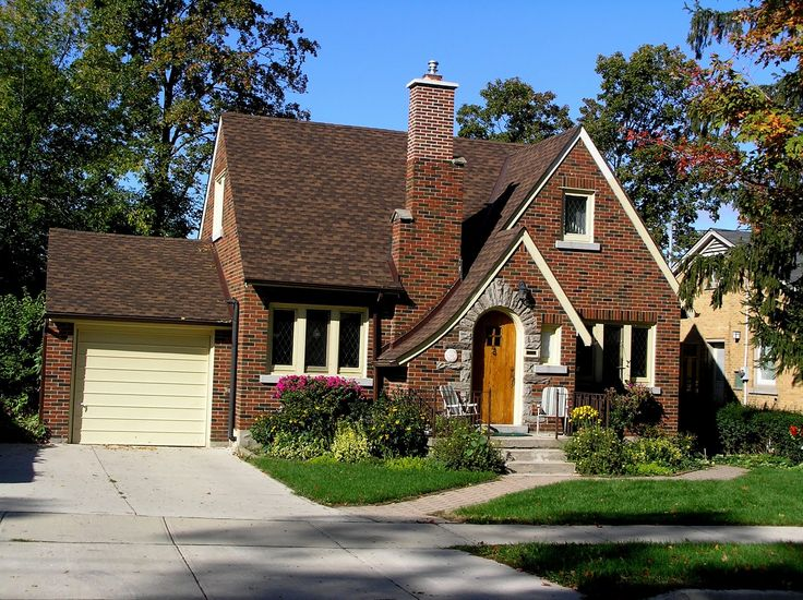 older bungalow home with curved asymmetrical gable - Google Search