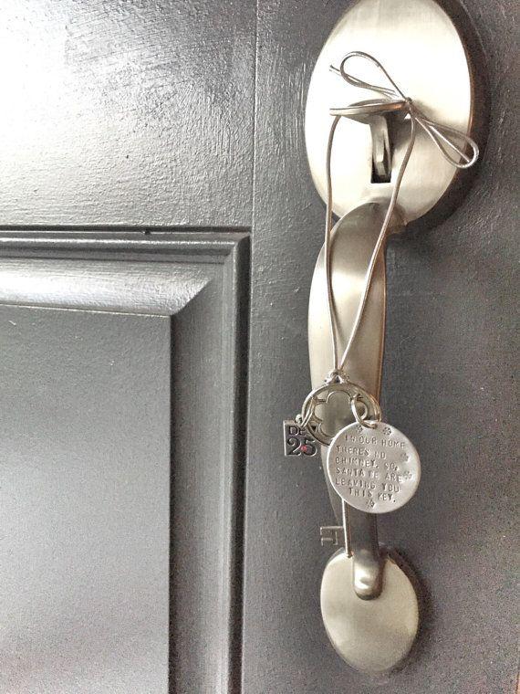 Santa's Magic Key Santa Key Christmas Key by HandToHeartJewelry