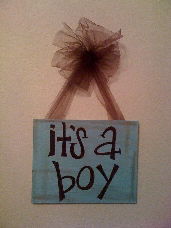 hospital door sign/gender reveal party!  for sale:  passionatelypink.etsy.com