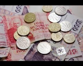 Krona. 1 USD to 122 ISK