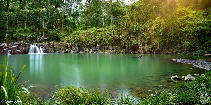 A beautiful large swimming hole near Nimbin, NSW which is seven and a half metres deep in parts.