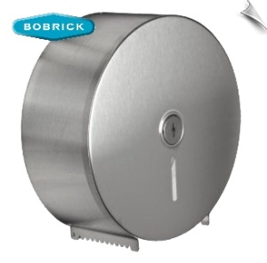 Surface mounted toilet tissue dispenser, Door Type-430, 22-gauge (0.8mm) stainless steel with satin finish.