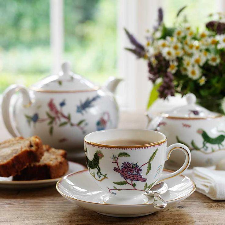 The interior designer launches her ceramics range at Ham Yard Hotel