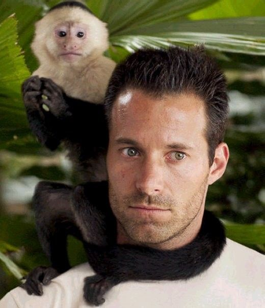 Johnny Messner as Bill Johnson & his buddy Kong in Anacondas: The Hunt for the Blood Orchid