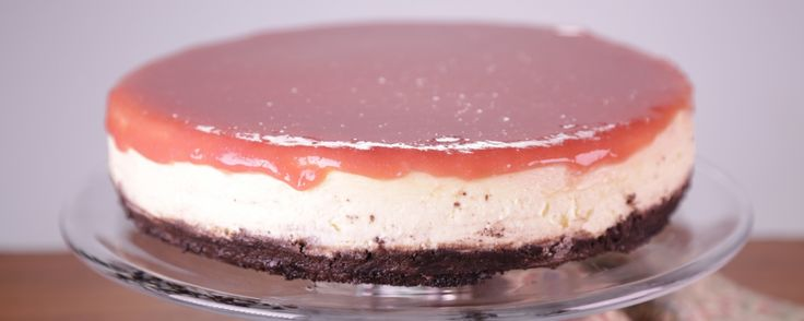 Take your cheesecake up a notch by using buttermilk and adding this delicious rhubarb glaze! Perfect for your next summer gathering!