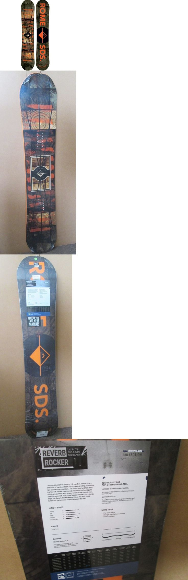 Snowboards 93825: Rome Reverb Rocker 155 Cm Mid-Wide Snowboard New With Tags! -> BUY IT NOW ONLY: $249 on eBay!