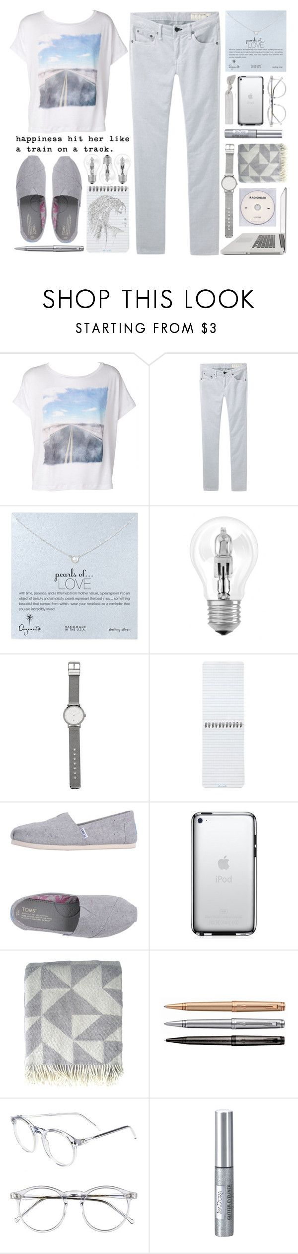 """""""happiness 04.40"""" by yexyka ❤ liked on Polyvore featuring rag & bone/JEAN, Dogeared, Osram, Witchery, Patagonia, TOMS, KEEP ME, Ratzer, Wildfox and Isadora"""
