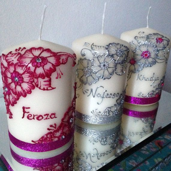Mehndi Candles Personalised : Best candles images on pinterest decorated