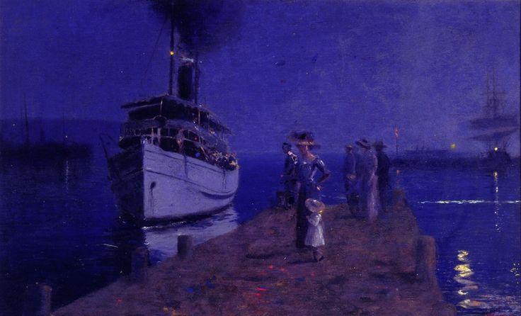 Llewelyn Lloyd (Livorno 1879 – Firenze 1949) Vaporetto a Lerici.