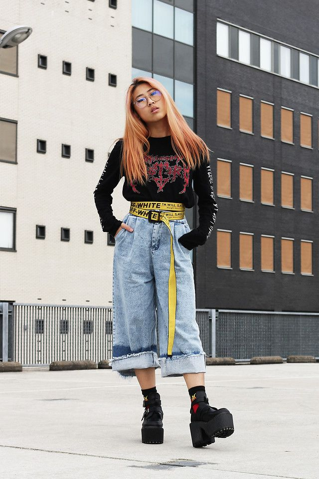 How To Wear That Yellow Industrial Belt Trend Fashion Off White Belt Aesthetic Clothes