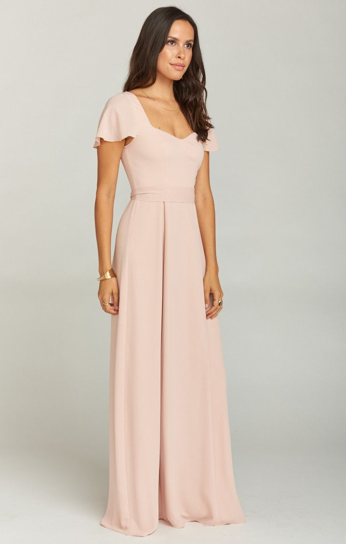 29ea7d775dc2 Marie Sweetheart Maxi Dress ~ Dusty Blush Crisp | Show Me Your MuMu Mumu  Wedding,