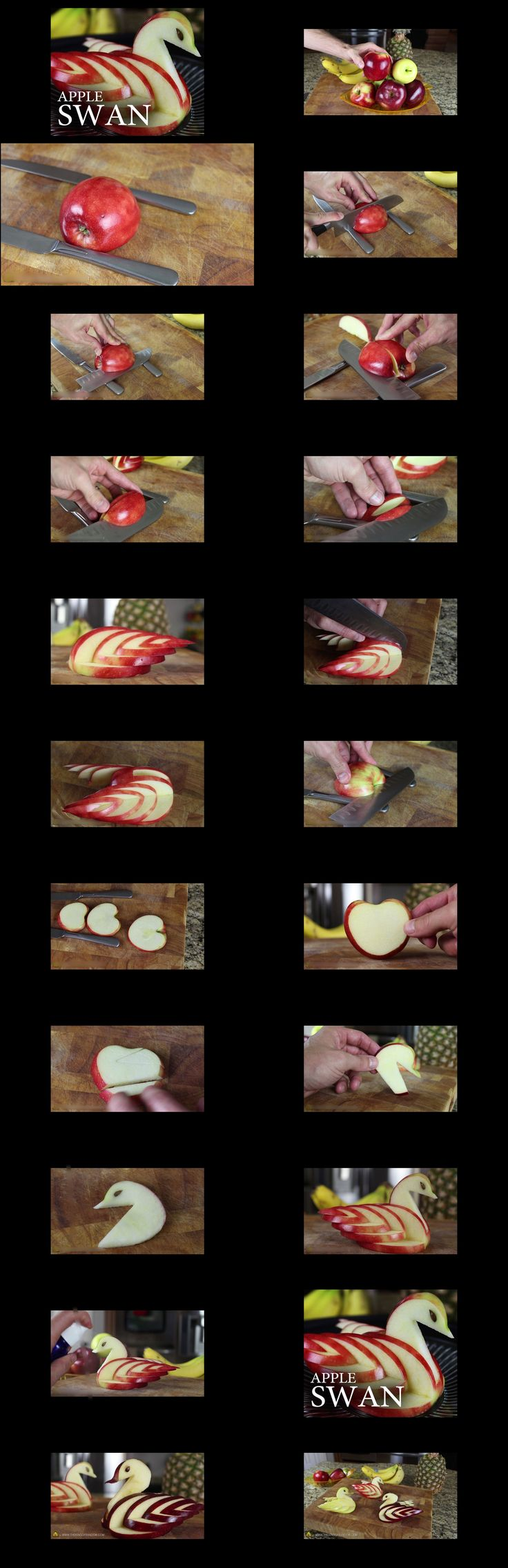 Wonderful DIY Edible Apple Swan | WonderfulDIY.com