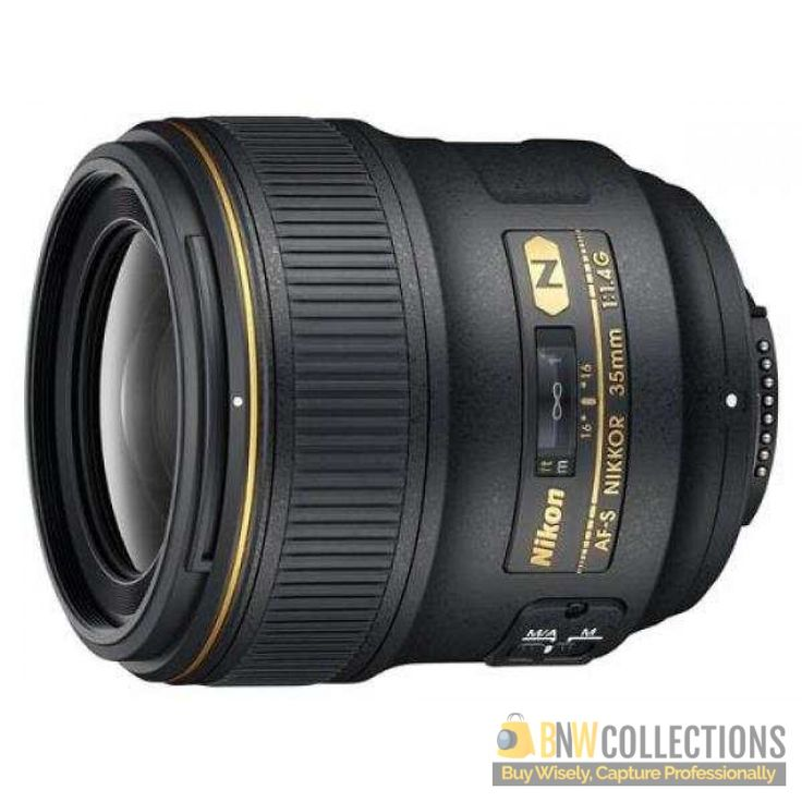 Buy Nikon 35mm f/1.4G AF-S FX SWM Lens At Rs.179,200 Features :- 35mm moderate wide-angle, beautiful background blur Cash on Delivery Hassle FREE To Returns Contact # (+92) 03-111-111-269 (BnW) #BnWCollections #Nikon #Camera #Lens