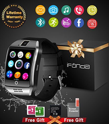 Bluetooth Smart Watch With Camera Waterproof Smartwatch Touch Screen Phone Unlocked Watch Cell Phone Smart Wrist Watch Cell Phone Watch For Android Phones Samsung IOS Iphone 7 Plus 6S Men Women Kids - IFUDA waterproof smart watches support bluetooth connection via phone! Remote camera, pedometer, night light function, calories counter, walking distance tracker,24 hours sports monitor, incoming call and message remind , Alarm, stopwatch, time display. Before Purchase: ANDROID& SIM CARD: all…