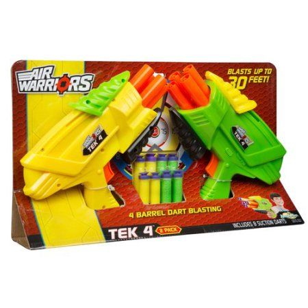Buzz Bee Toys Air Warriors Tek 4 Twin Pack, Assorted