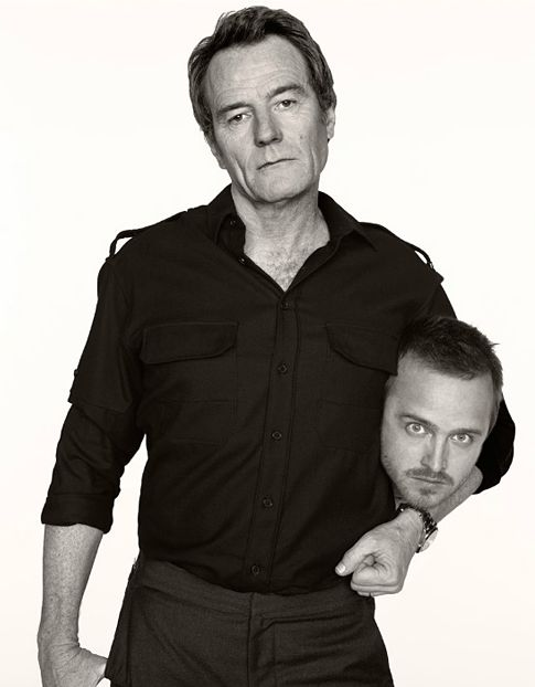 Bryan Cranston and Aaron Paul dressed as each others